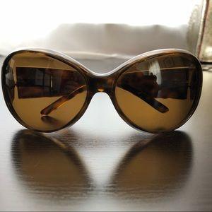 Dolce and Gabbana tortoise shell wrap sunglasses